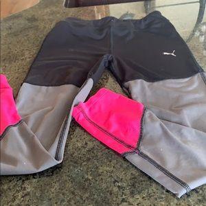 Pink black & gray leggings